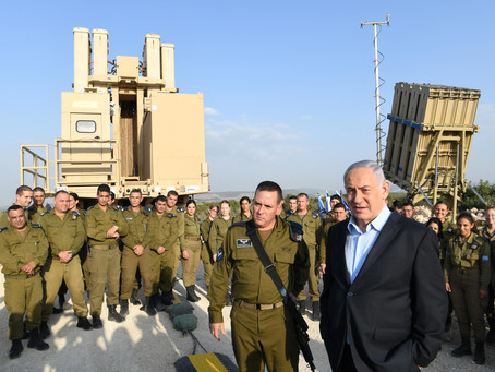 PM Netanyahu Holds Security Tour of a Missile Intercept Control Center and an Iron Dome Battery