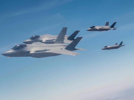 """以色列空军 F-35战斗机昨天 完成""""持久闪电2""""演习"""