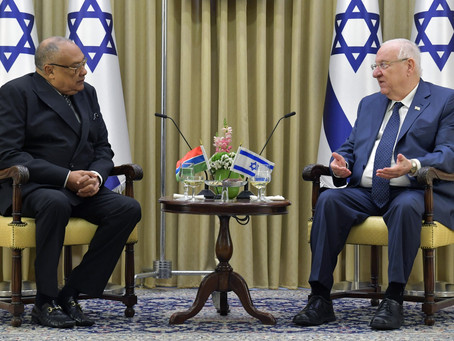 President Rivlin received diplomatic credentials from the new ambassadors of Gambia, Thailand, -