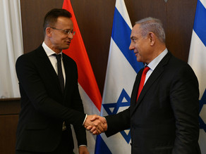 內塔尼亞胡總理會見匈牙利外長彼得·斯齊亞爾托