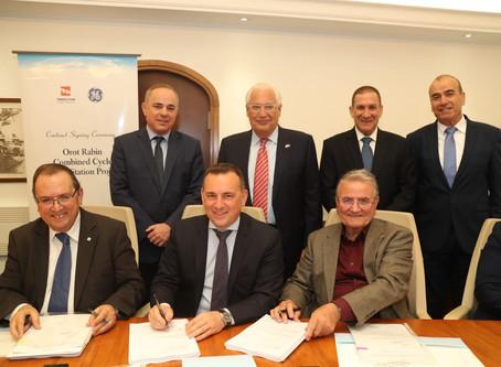 美國通用電器與以色列電力公司合作開拓天然氣動力聯合循環發電系統