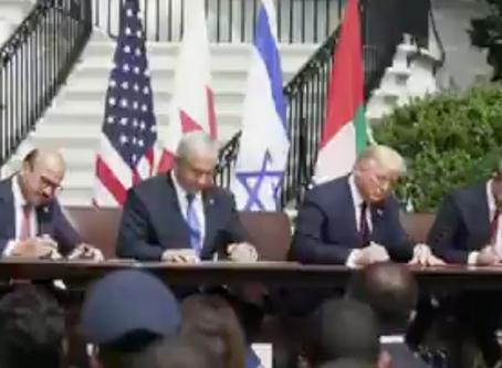 以色列、阿聯酋與巴林在美國簽署和平條約