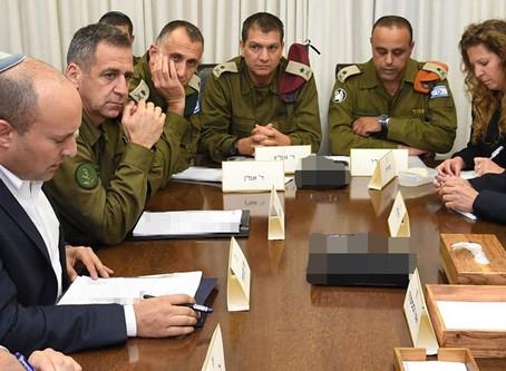 內塔尼亞胡總理與IDF高級官員進行安全評估