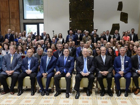里夫林总统在总统官邸举行的基督教媒体峰会上发表讲话