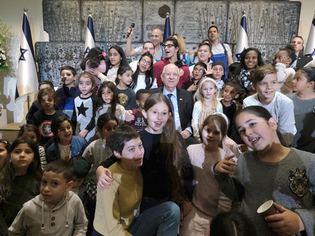 President Rivlin celebrated the eighth candle of Chanukah with the children of Beit HaNasi ---