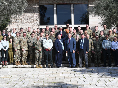 President Rivlin Hosted Some 30 Officers from the US Amed Forces Visiting Israel with JINSA