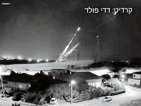 加沙地區恐怖組織正在攻擊以色列