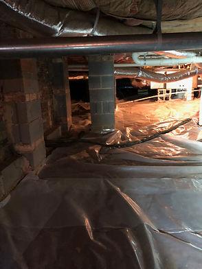 replace insulation in crawlspace