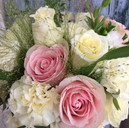 Pretty scented Summer bouquet for a small intimate wedding