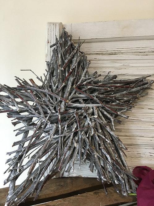 Rustic twig star