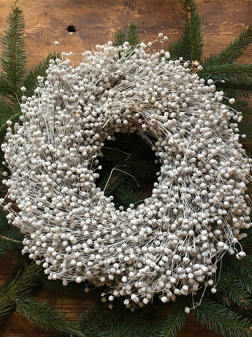 Frosted flax wreath