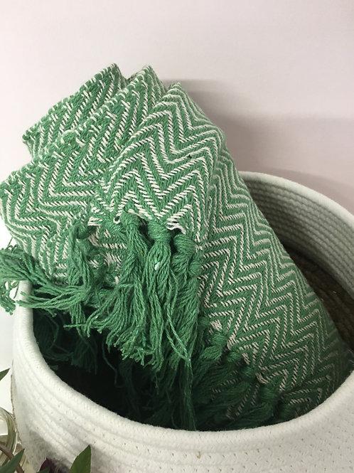 leafy green throw