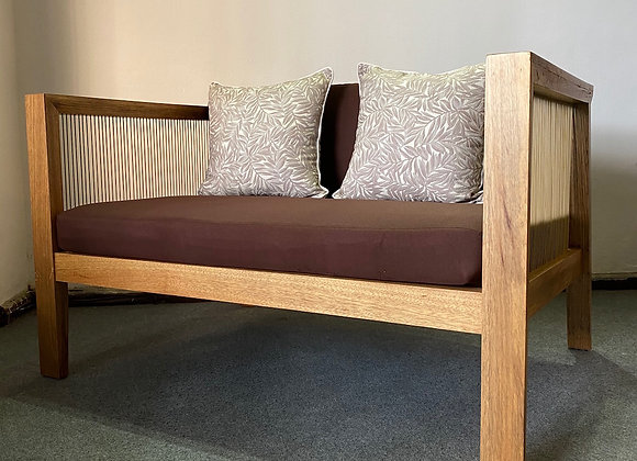 Merit 2 Seater Sofa with Wooden Frame (120x90x42/70cm)
