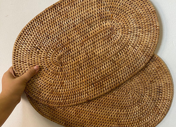 Rattan Oval Placemat (45x30cm)