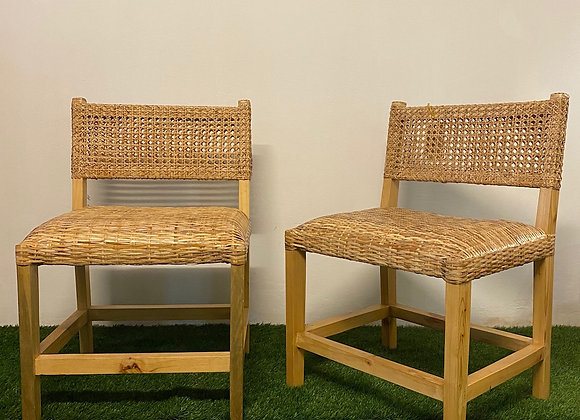 Rattan Dining Chair (L55xW52xSH45/H80cm)