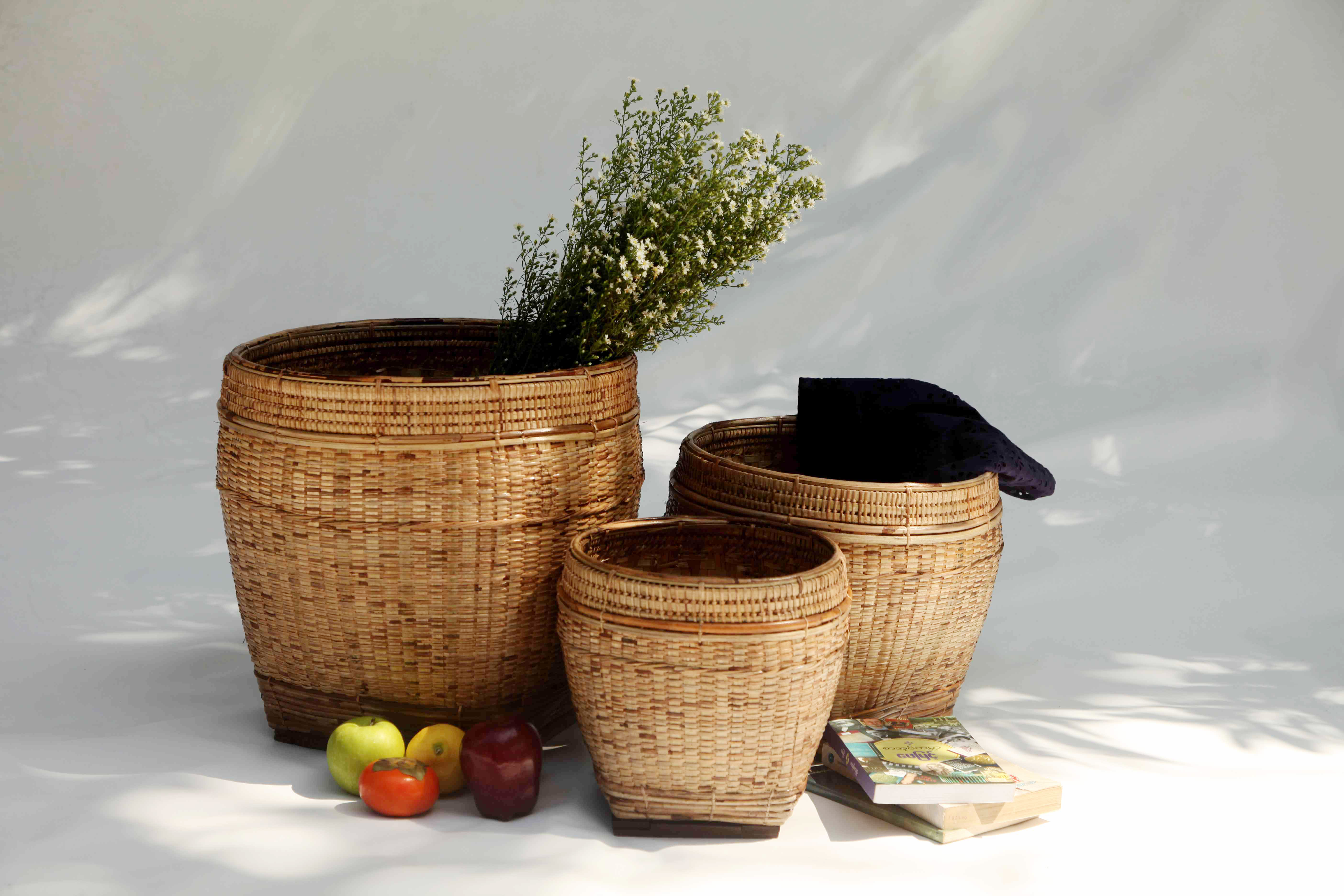 Orchid Basket S/3
