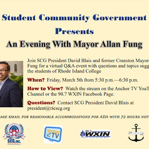 An evening with former Mayor Fung on March 5