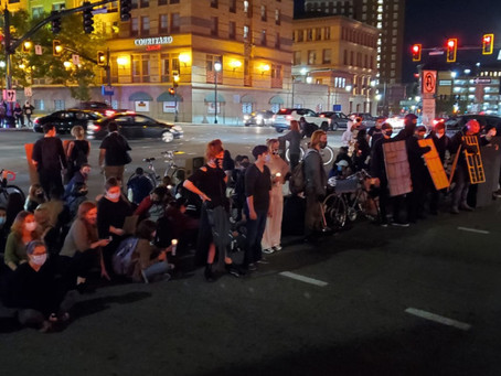Protests erupt in Providence following a grand jury's decision to not charge officers
