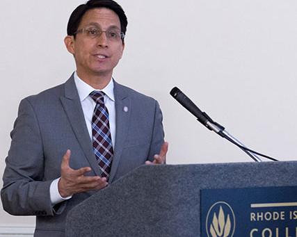 Sanchez holds livestream address for RIC community