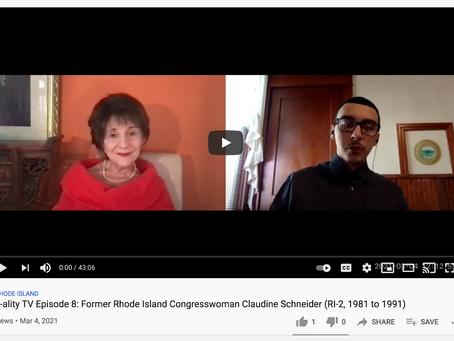 Interview With Former R.I. Congresswoman Claudine Schneider