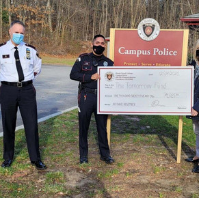 RIC Campus Police officers put down their razors for cancer awareness