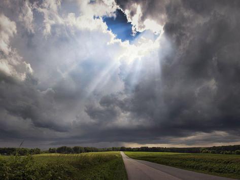 sunshine and rainclouds