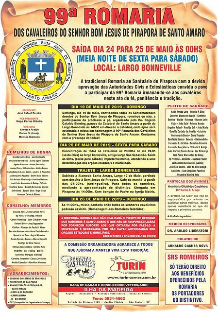 Cartaz Romaria dos Cavaleiros de Santo A