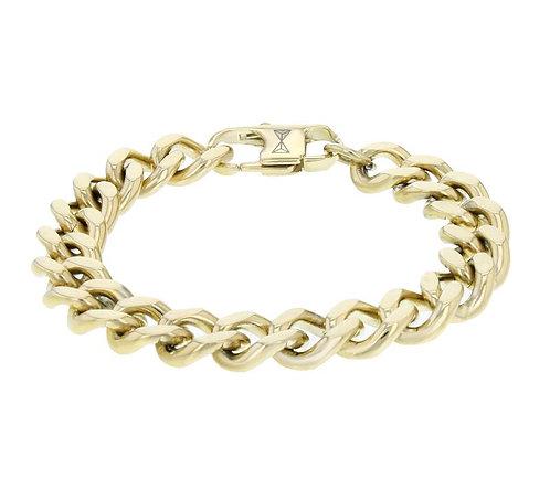 Gourmette Full Flat Dore Bracelet