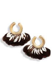 Positano Earring Goud Zwart/Wit