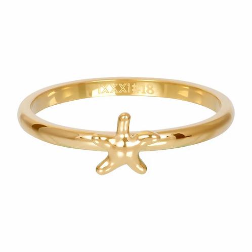 Vulring Symbol Starfish Goudkleurig 2mm