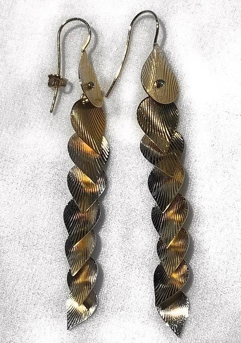 Long Earrings Small Gold