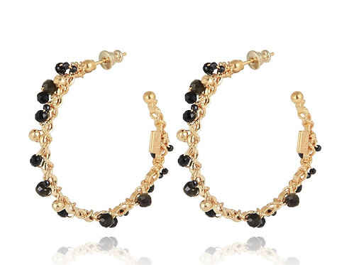 Orphee Hoop Earrings Black