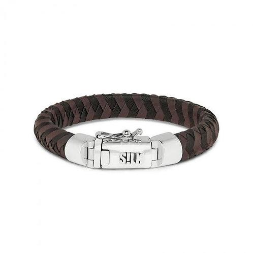 326 Armband Zwart-Bruin Arch
