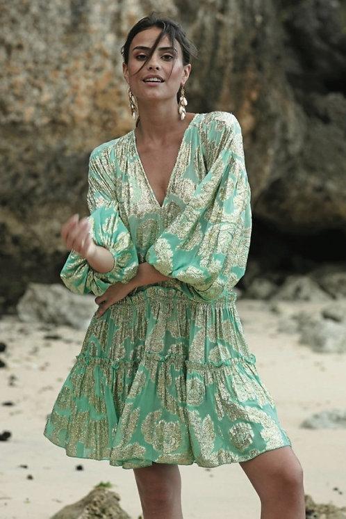Korte jurk Jodie Turqoise