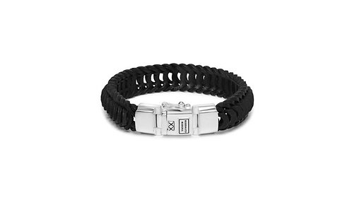 122 Lars Leather Black Bracelet