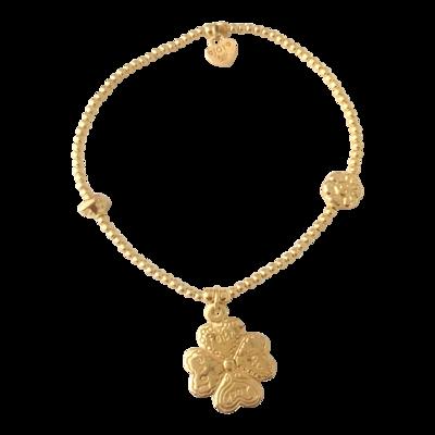 Bracelet Bamba Four Clover Gold