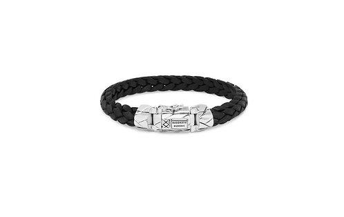126 Mangky Small Leather Black Bracelet