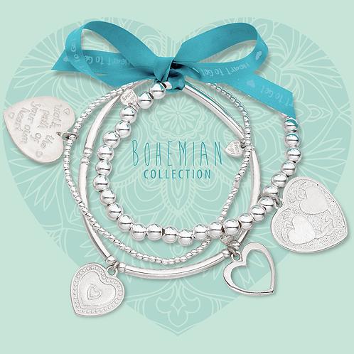 Heart to Get elastische armband set 'hartjes'