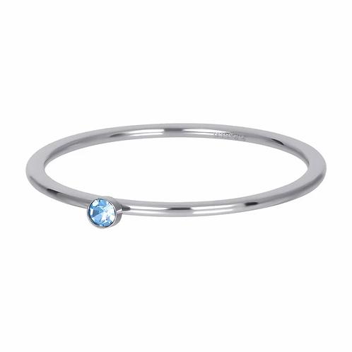 Vulring Light Sapphire 1 Stone Zilverkleurig 1mm