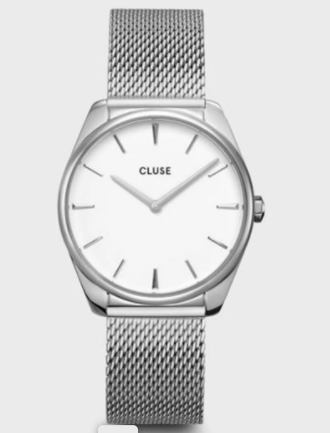 Féroce Mesh 36mm White Silver