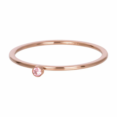 iXXXi Jewelry Vulring Pink 1 Stone Rosé 1mm