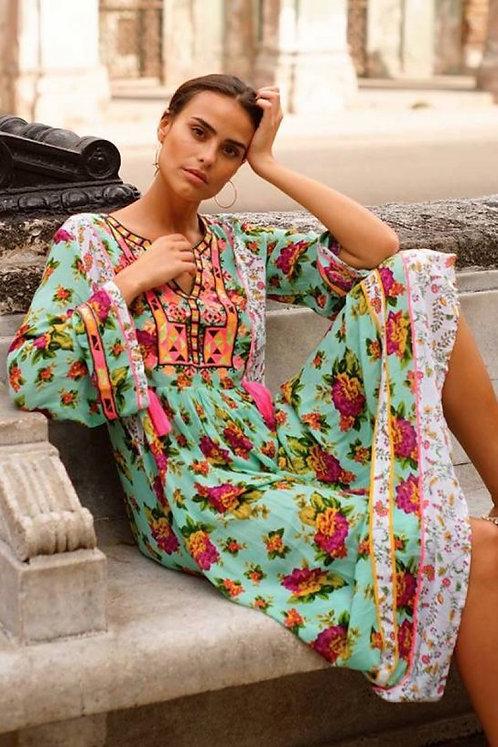 Maxi jurk Neon