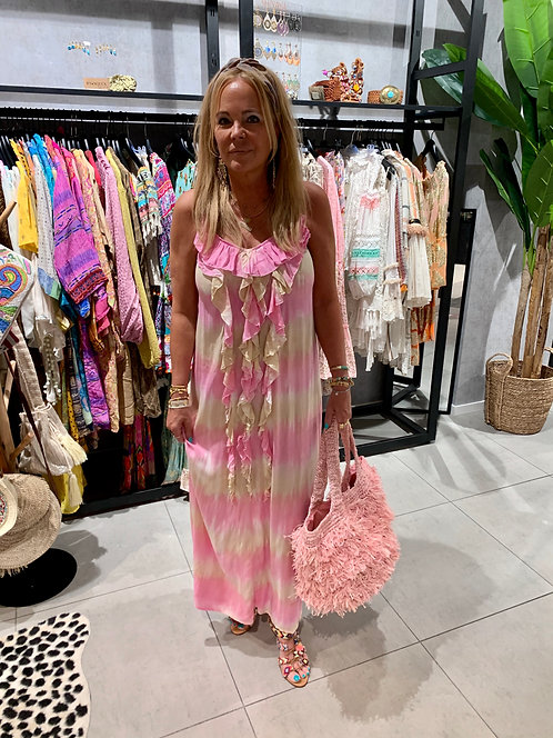 Tarifasul Maxi Dress Roze/Zand