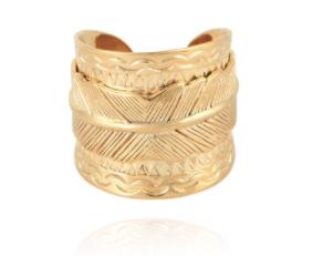 Cancun Penna Ring Gold