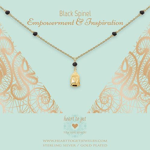 Gemstone Buddha Black Necklace
