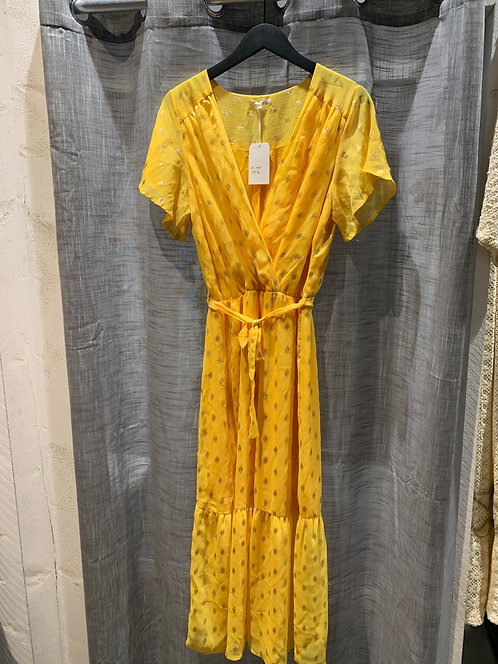 Maxi dress geel/goud