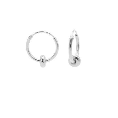 Oorbellen hoops 12mm oval dot