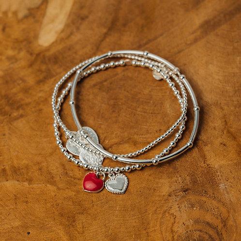 Bracelet Set Sicily Red