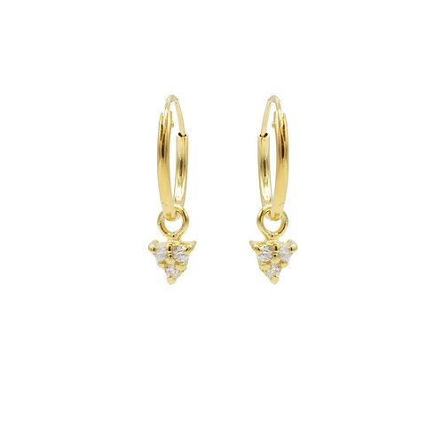 Oorbellen Hoops Small Triangle Zirkonia