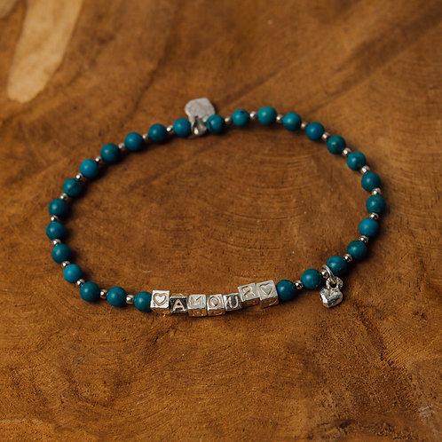Bracelet Cubi Amour Turquoise